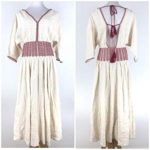 Free People Size XS Peasant Midi Dress